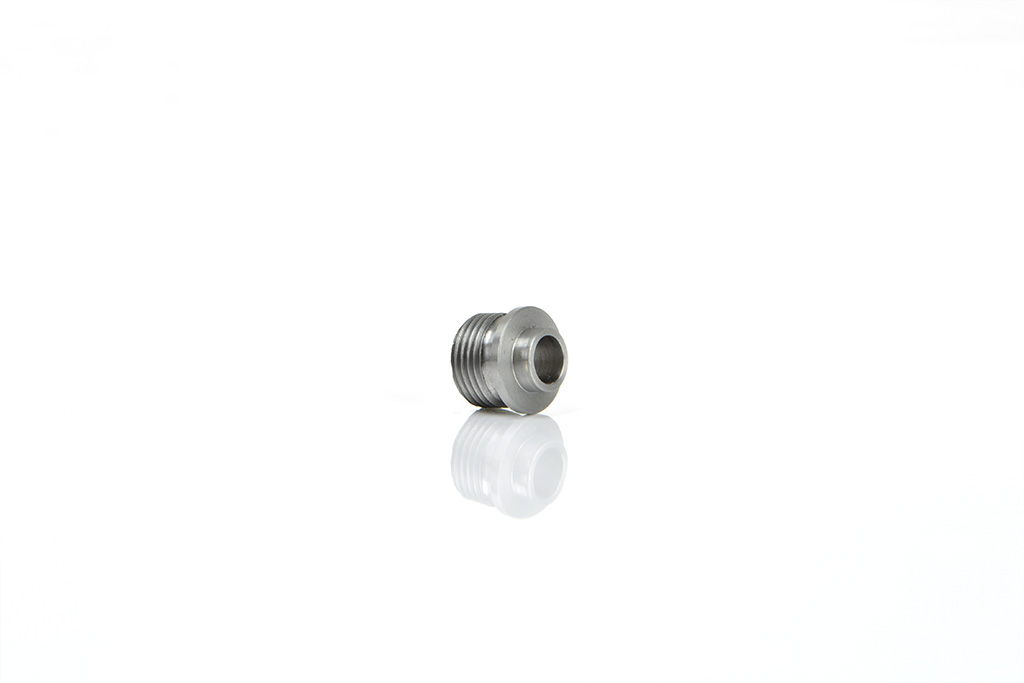 special machined screw on drawing, drilled and threaded